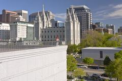 Salt Lake city downtown city view. - stock photo