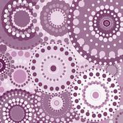 vintage circular retro ornament vector background pink - stock illustration