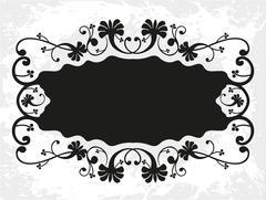 Decorative frame with pattern Stock Illustration