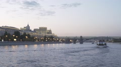 Excursion Ships On Moscow River Stock Footage