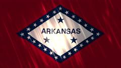 Arkansas State Loopable Flag Stock Footage