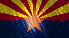 Arizona State Loopable Flag Stock Footage
