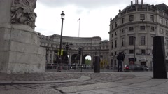 Admiralty arch constructed in 1912 Stock Footage