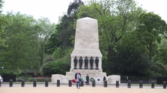 The Guards Division War world war one Memorial london, Stock Footage