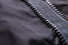 Garment coat with zipper - stock photo