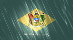 Delaware State Loopable Flag Stock Footage