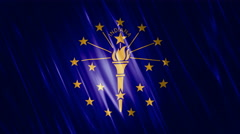 Indiana State Loopable Flag Stock Footage