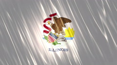 Illinois State Loopable Flag Stock Footage
