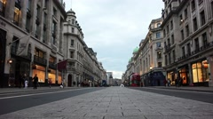 Regent Street is one of the major shopping streets in the West End of London Stock Footage