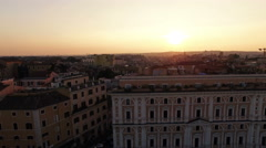 Aerial video of p.zza Esquilino in Rome, Italy. N. Stock Footage
