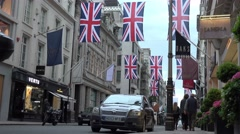 london old bond street expensive high street shops - stock footage