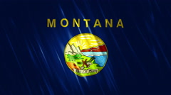 Montana State Loopable Flag - stock footage