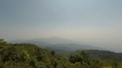 Mountain view in doi inthanon national park in thailand Stock Footage