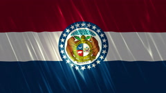 Missouri State Loopable Flag Stock Footage
