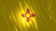 New Mexico State Loopable Flag - stock footage