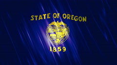Oregon State Loopable Flag Stock Footage