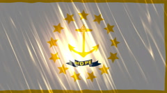 Rhode Island State Loopable Flag Stock Footage