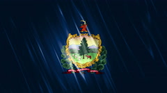 Vermont State Loopable Flag Stock Footage