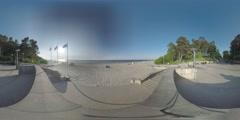 4K 360 VR video, Latvia, Jurmala, Baltic sea shore. Stock Footage