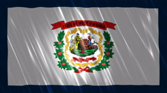 West Virginia State Loopable Flag Stock Footage