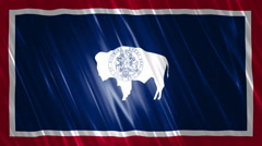Wyoming State Loopable Flag Stock Footage
