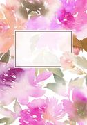 Peony greeting card - stock illustration