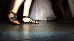 Feet of dancers at a private party Stock Footage