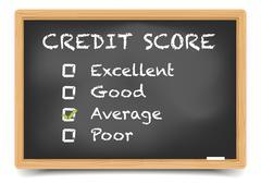 Blackboard Credit Score - stock illustration