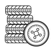 car tires illustration - stock illustration