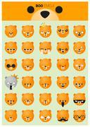 Dog emoji icons Stock Illustration