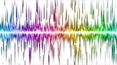 Abstract falling stars and lights animation - Loop Rainbow Stock Footage