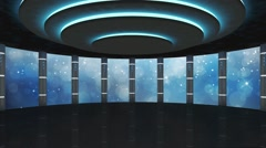 Entertainment TV Studio Set-Virtual Green Screen Background Loop Stock Footage