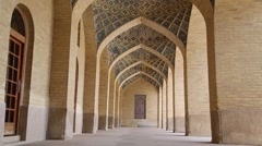 In iran shiraz the corridor Stock Footage