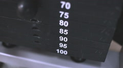 Increase the weight in the gym Stock Footage