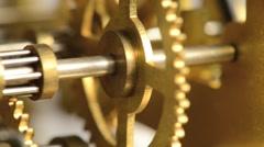 Close-up Clockwork Gears - stock footage