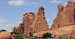 Moab Utah Arches National Park Park Avenue DCI 4K Stock Footage