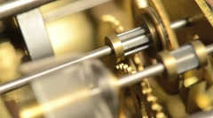 Close-up Clockwork Gears - stock footage