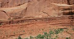 Moab Utah Arches National Park Park Avenue pan close DCI 4K Stock Footage