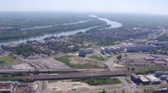 Aerial View Of Belgrade Serbia Stock Footage