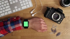 Iwatch user hand Stock Footage