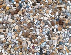 Exposed aggregate concrete - stock photo