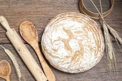 Home made bread - stock photo