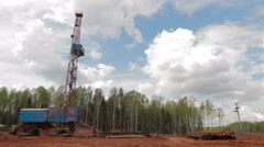 Oil gas drilling rig Stock Footage