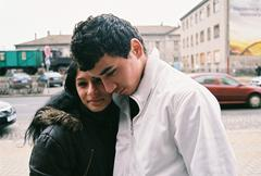 PREROV, CZECH REPUBLIC, APRIL 5, 2012: Portrait of Gypsy young girl, boy, ghetto Kuvituskuvat
