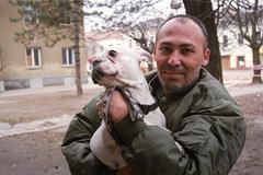 PREROV, CZECH REPUBLIC, JANUARY  5, 2011: Portrait Gypsy activist Peter Horvath Kuvituskuvat