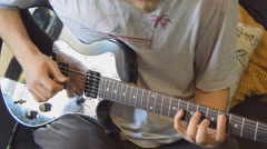 Aggressive Guitar Finger Picking Stock Footage