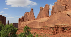 Moab Utah Park Avenue trees Arches National Park DCI 4K Stock Footage
