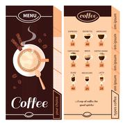 Coffee Menu Design Stock Illustration