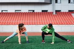 Dating during exercise Stock Photos