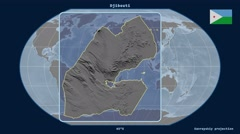 Djibouti - 3D tube zoom (Kavrayskiy VII projection) Stock Footage